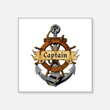 Captain and Anchor Sticker