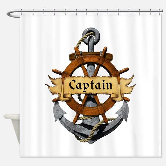 Captain and Anchor Shower Curtain