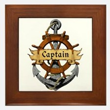 Captain and Anchor Framed Tile
