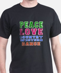 Peace Love Country Western Dance T-Shirt