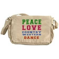 Peace Love Country Western Dance Messenger Bag