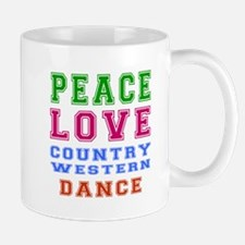Peace Love Country Western Dance Mug