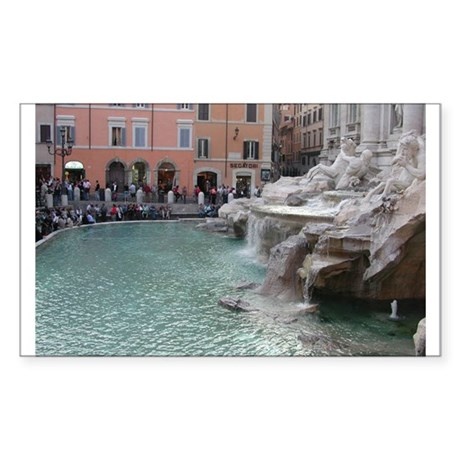 Trevi Fountain Rectangle Sticker