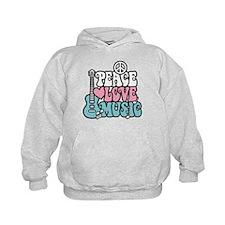 Peace Love Music Hoodie