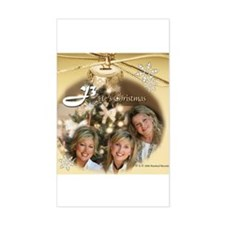 """J3 """"He's Christmas"""" Rectangle Decal"""