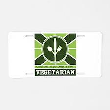 Custom Vegetarian Flag Aluminum License Plate