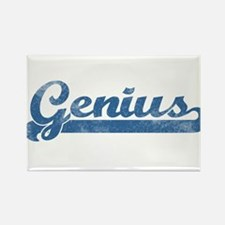 Genius Girl Rectangle Magnet