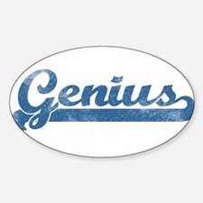 Genius Girl Oval Decal