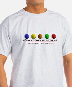 WoodenCubeThing5x4 T-Shirt