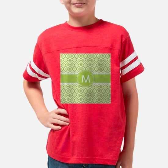 Monogram on Green Retro Honey Youth Football Shirt