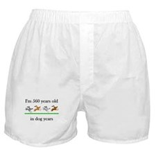 80 birthday dog years 1 Boxer Shorts