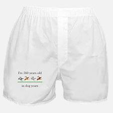 80 birthday dog years 1 Boxer Shorts