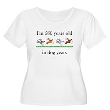 80 birthday dog years 1 Plus Size T-Shirt