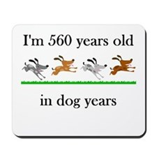 80 birthday dog years 1 Mousepad