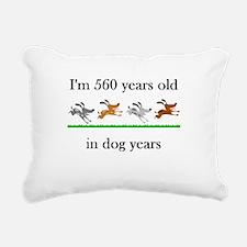 80 birthday dog years 1 Rectangular Canvas Pillow
