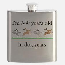 80 birthday dog years 1 Flask