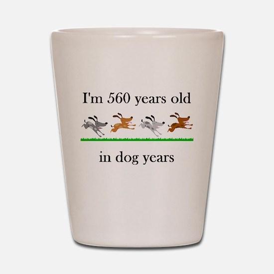 80 birthday dog years 1 Shot Glass