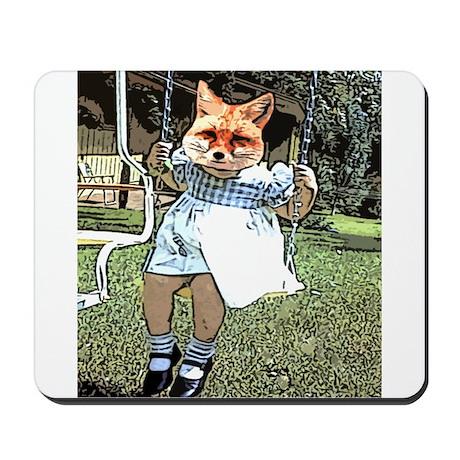 Red Fox Swings Mousepad