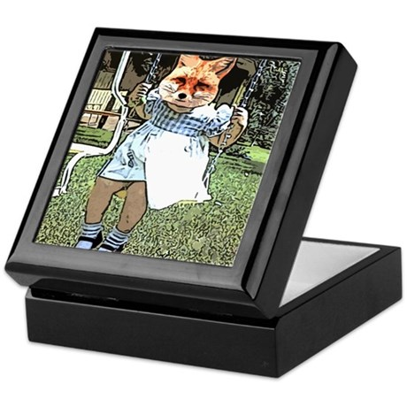 Red Fox Swings Keepsake Box