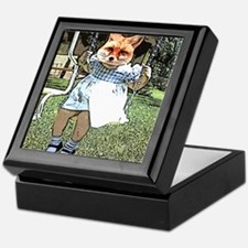 Red Fox Swings Keepsake Box