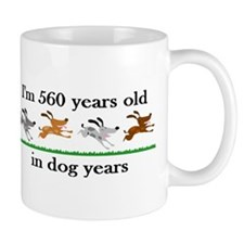 80 dog years birthday 2 Mug