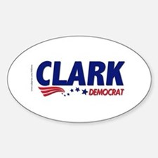 """Clark Democrat"" Oval Decal"