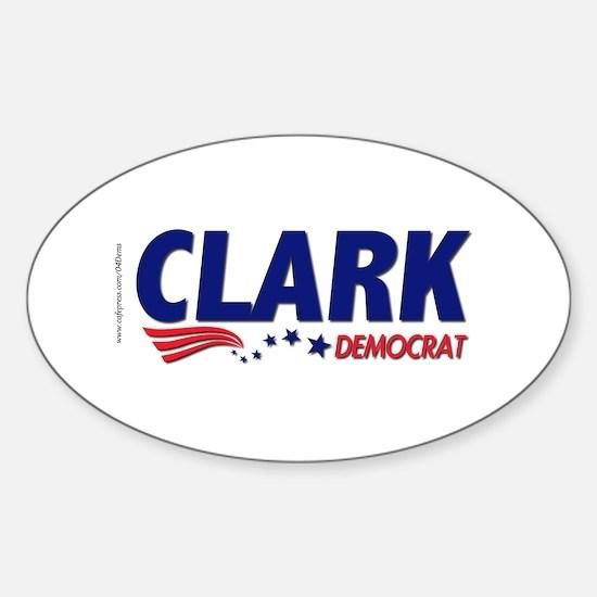 """Clark Democrat"" Oval Decal"