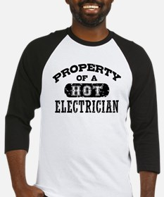 Property of a Hot Electrician Baseball Jersey