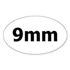 9mm Oval Decal