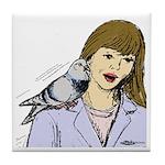 Pigeon Pal Tile Coaster