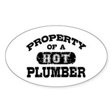 Property of a Hot Plumber Decal