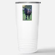 Black Percheron Mare at Pasture Travel Mug