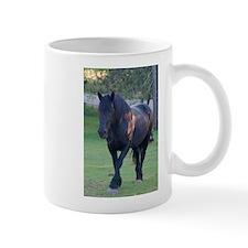 Black Percheron Mare at Pasture Mug