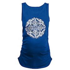 Celtic Mandala Emblem Maternity Tank Top