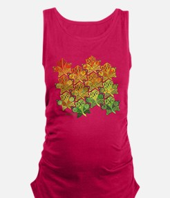 Celtic Leaf Tesselation Maternity Tank Top