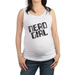 Nerd Girl Maternity Tank Top