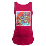Multicolor Oak Leaf Watercolor Maternity Tank Top