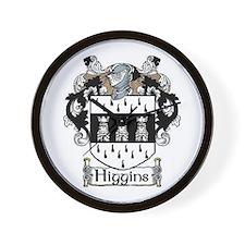 Higgins Coat of Arms Wall Clock