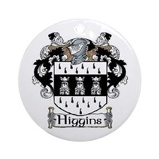 Higgins Coat of Arms Ornament (Round)