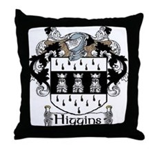 Higgins Coat of Arms Throw Pillow
