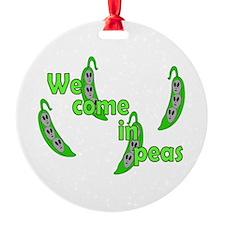 We Come in Peas Ornament