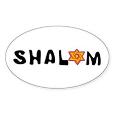 Shalom Oval Decal