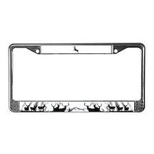 Buck deer License Plate Frame