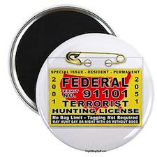 "Terrorist Hunting Permit 2.25"" Magnet (100 pack)"