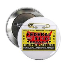 "Terrorist Hunting Permit 2.25"" Button (10 pack)"
