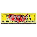 Terrorist Hunting Permit Bumper Sticker