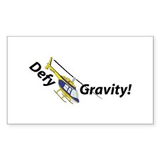 Defy Gravity B/Y Rectangle Decal