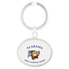 Alabama Army National Guard (ARNG) Oval Keychain