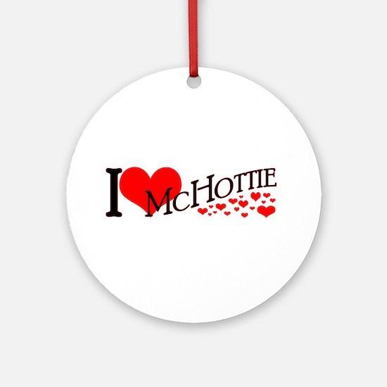 I <3 McHottie Ornament (Round)