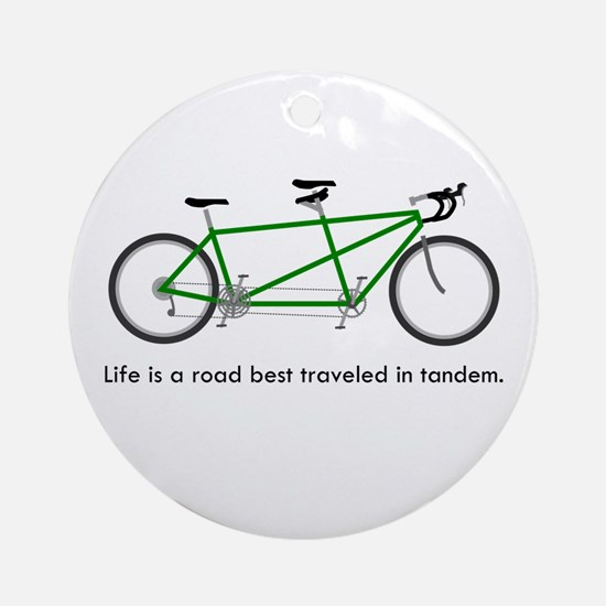 Life is a road Ornament (Round)